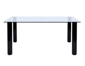 Tavolo in cristallo bisellato di Zanotta Brentano 90x200 scontato del -74%