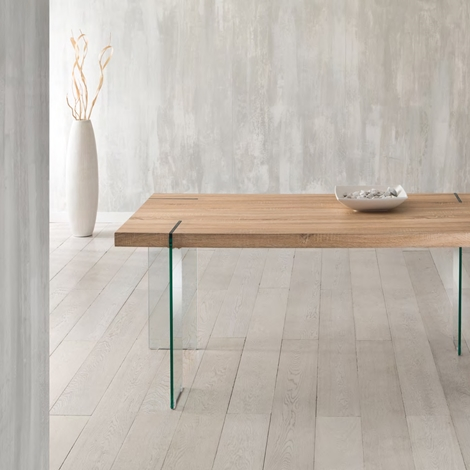 Offerta unica tavolo con gambe in vetro e piano in mdf tavoli a prezzi scontati - Piano in vetro per tavolo prezzi ...