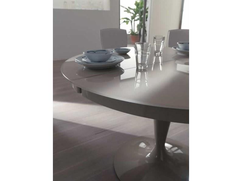 Ozzio tavolo eclipse rotondo allungabile in vetro for Tavolo eclipse di ozzio design
