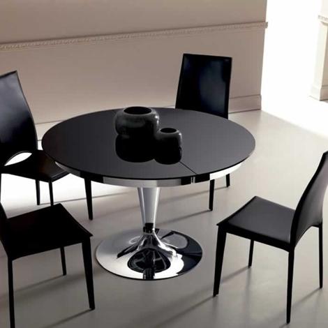 Ozzio tavolo eclipse rotondo allungabile in vetro tavoli for Tavolo eclipse di ozzio design