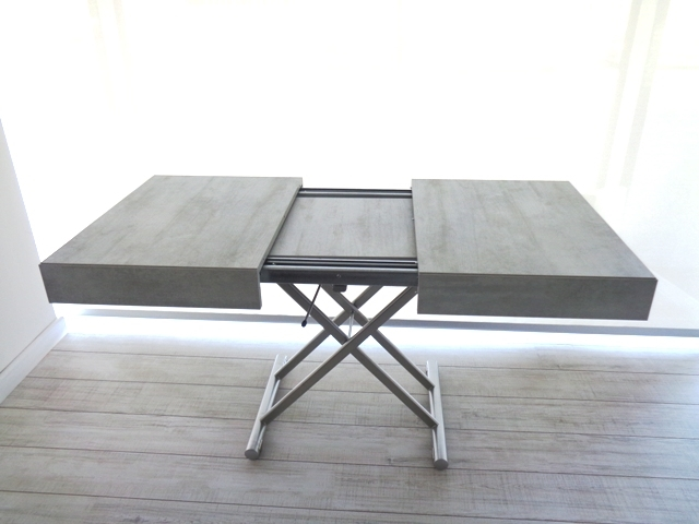 Ozzio tavolo tavolino trasformabile new cover easyline for Tavolo trasformabile