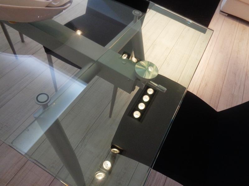 Tavolo Allungabile Cristallo Trasparente.Tavolo Allungabile Vetro Trasparente Finest Tavolo Allungabile