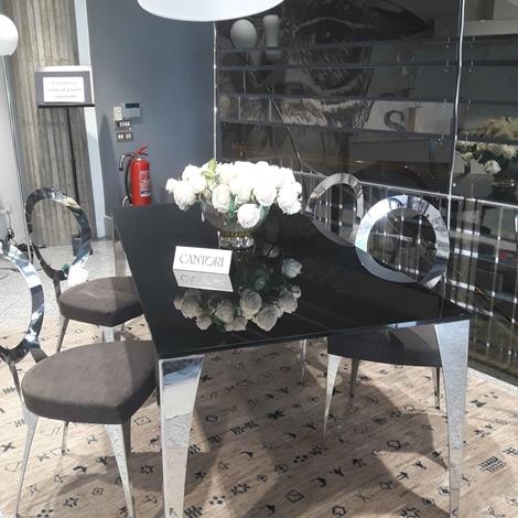 Tavolo design cantori cristallo vetro verniciato sedie for Arredamenti cantori