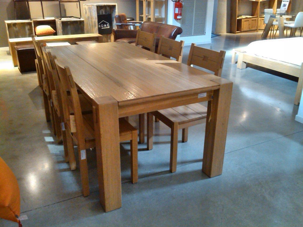 Set tavolo artigianale fisso con sei sedie tavoli a - Tavolo con sedie ...