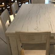 Set tavolo pezzo unico artigianale e sedie
