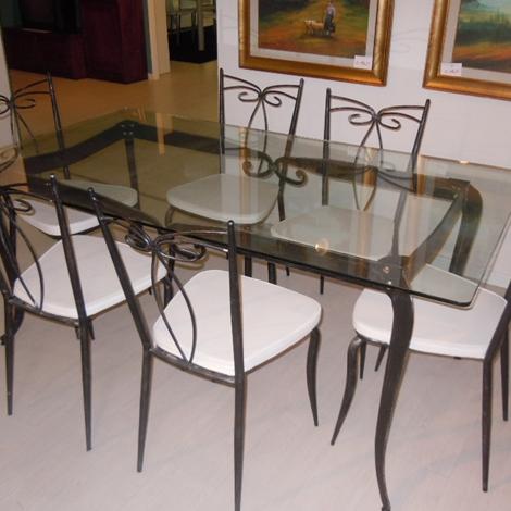 Tavolo ferro battuto giardino costantino idee per il - Set da giardino ferro battuto ...