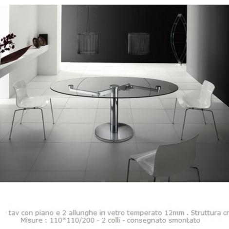 Tavolo cristallo allungabile modello iris tavoli a for Tavolo ovale cristallo allungabile