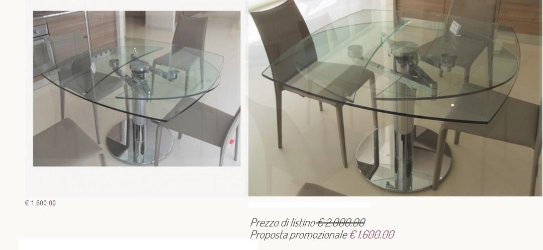 Tavolo cristallo allungabile modello iris tavoli a - Tavolo in cristallo ovale ...