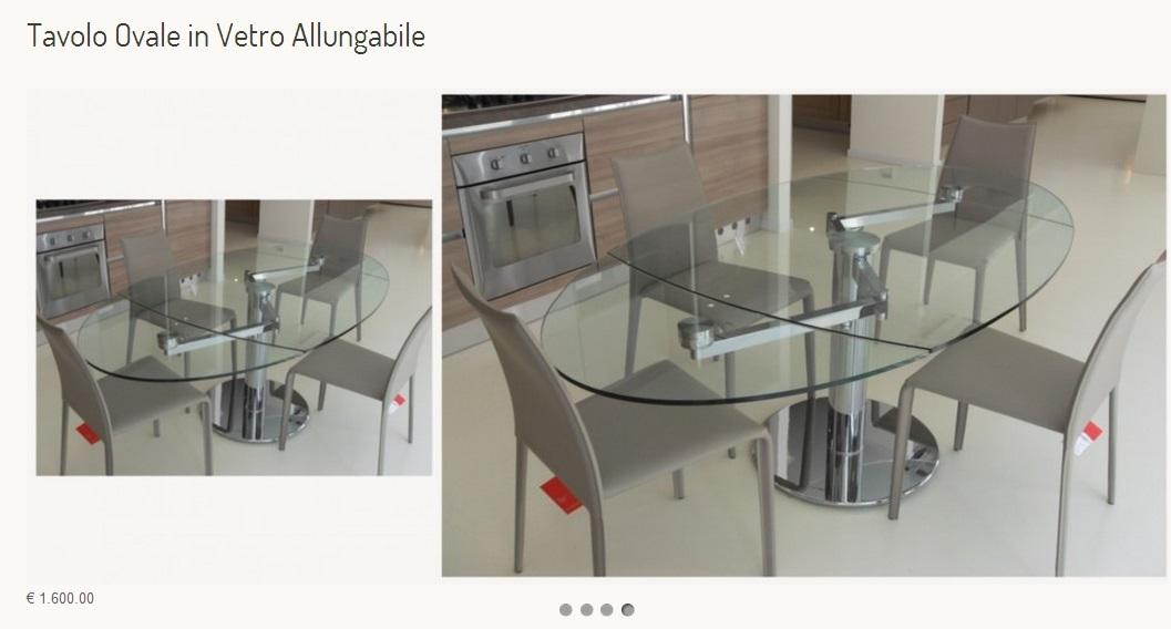 Tavolo cristallo allungabile modello iris tavoli a for Sigma arredamenti
