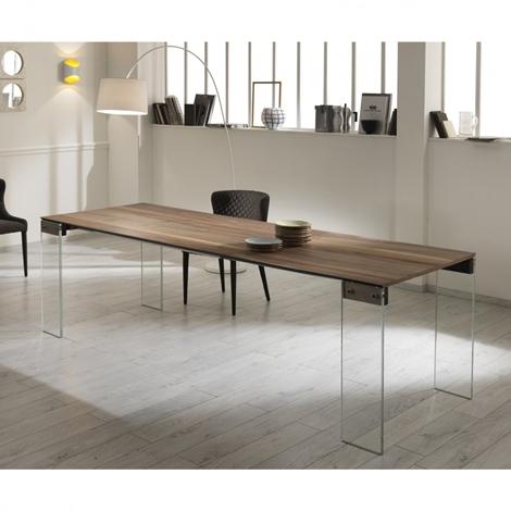 Stones tavolo cloud rettangolare allungabile legno for Tavolo da cucina allungabile rettangolare