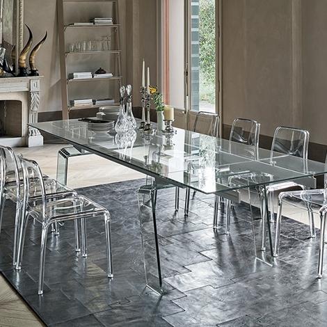 Beautiful tavoli in cristallo prezzi photos amazing for Tavoli in cristallo e acciaio