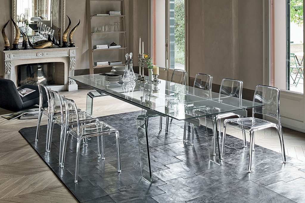 Target tavolo crystal rettangolari rettangolari allungabili vetro tavoli a prezzi scontati - Tavolo cristallo allungabile ...