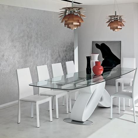 Tavolo target eclipse tavolo in ristallo rettangolari for Tavola allungabile