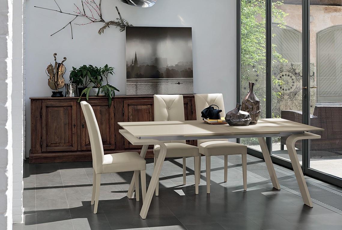 Target tavolo tavolo allungabile moderno piano in for Tavoli in cristallo allungabili