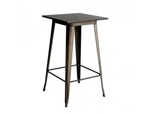 Tavolino alto da bar in metallo (lamiera) a prezzo scontato