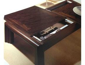 Tavolino basso da salotto in legno con portariviste sconto 45%