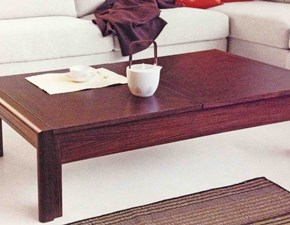 Tavolo basso salotto con ripiani scorrevoli vano portaoggetti sconto 45%