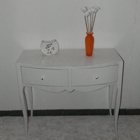 outlet Tavolino bianco con cassetti scontato