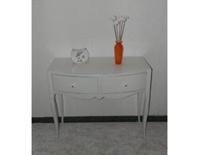 Tavolino bianco con cassetti scontato