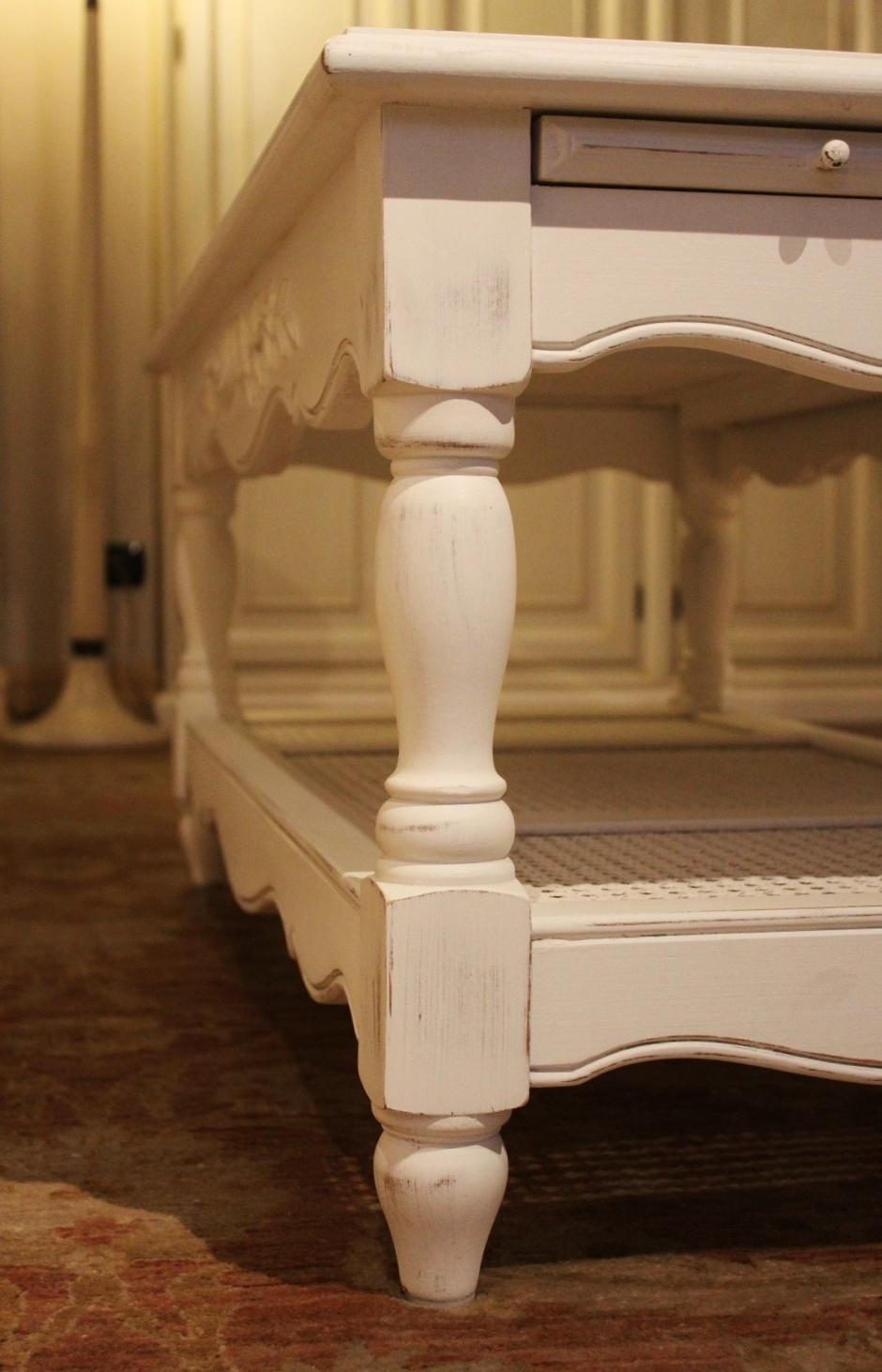 tavolino da salotto stile provenzale, 2 tiretti laterali - al 40 ... - Soggiorno Provenzale 2