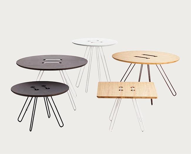 Tavolino di design in legno modello twine table nuovo a for Tavoli di design outlet