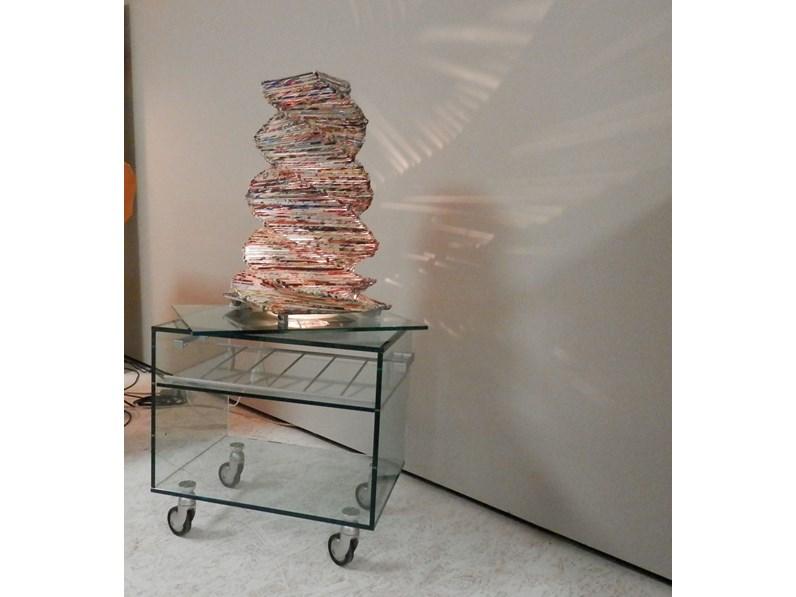 Tavolino in vetro con ruote - Tavoli a prezzi scontati