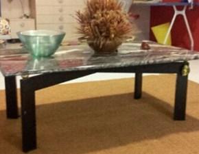 Tavolino rettangolare fisso con piano in marmo scontato del -50%