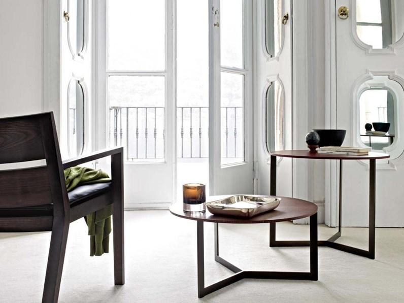 Tavolino rotondo hübsch in legno living and co