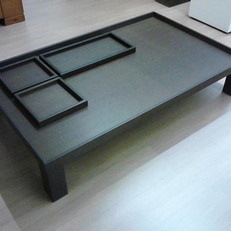 Tavolino in legno rovere moro comprensivo di tre vassoi Misure 130 x ...