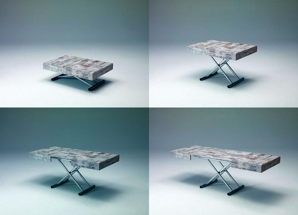 tavolino trasformabile artù in legno - tavoli a prezzi scontati - Tavolo Soggiorno Trasformabile