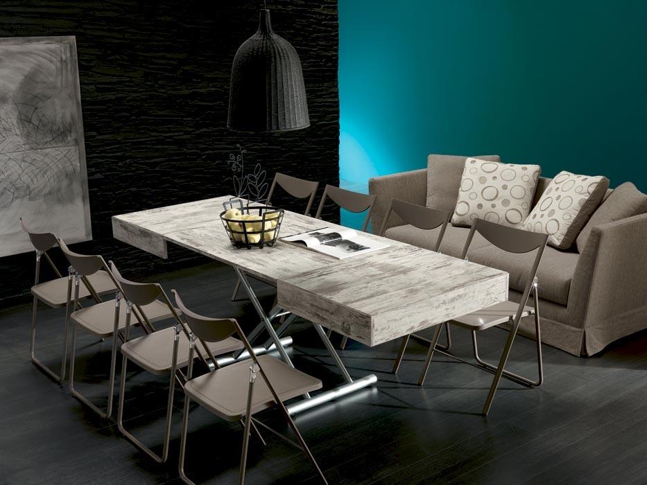 Tavolino trasformabile con meccanismo a gas allungabile for Outlet tavoli moderni allungabili