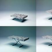 Tavolino trasformabile con meccanismo a gas allungabile promozione