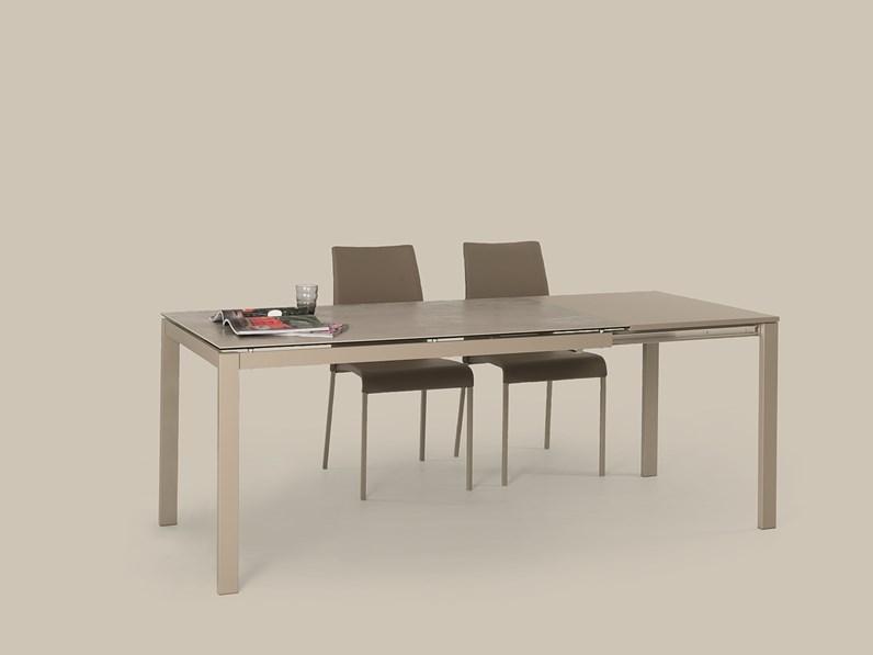 Tavolo Allungabile Con Piano In Vetro.Tavolo 140x80 Allungabile A 200x80 Con Piano In Vetro Ceramica