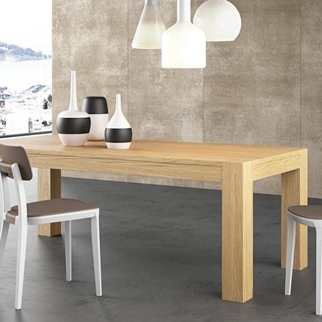 Tavolo 160 x 90 in legno di rovere allungabile tavoli a for Tavolo allungabile legno rovere