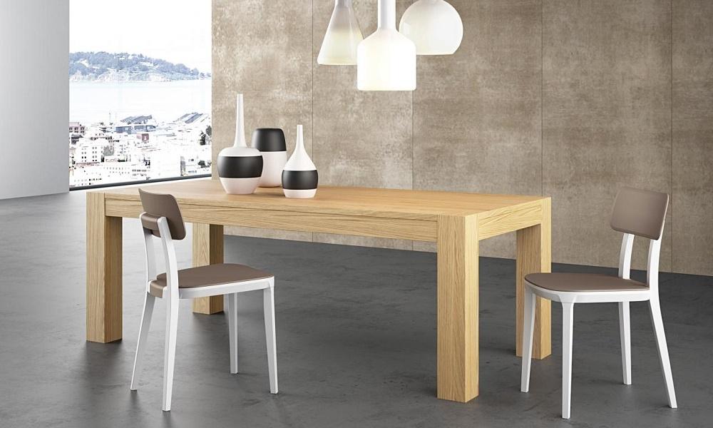 Tavolo 160 x 90 in legno di rovere allungabile tavoli a - Tavoli in legno moderni ...
