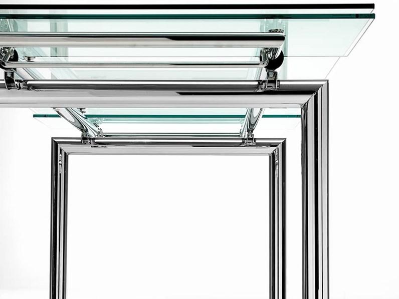Tavolo acciaio e vetro fine produzione - Tavolo vetro e acciaio ...