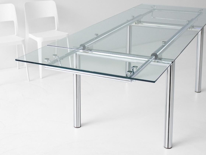 Tavolo acciaio e vetro fine produzione tavoli a prezzi for Tavolo vetro