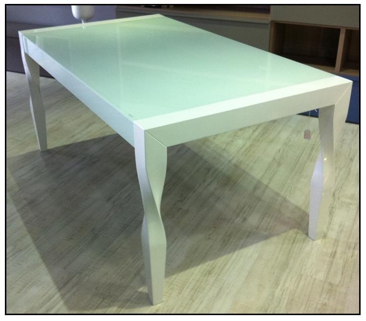 Tavolo allung bianco lucido tavoli a prezzi scontati - Tavolo bianco laccato lucido ...
