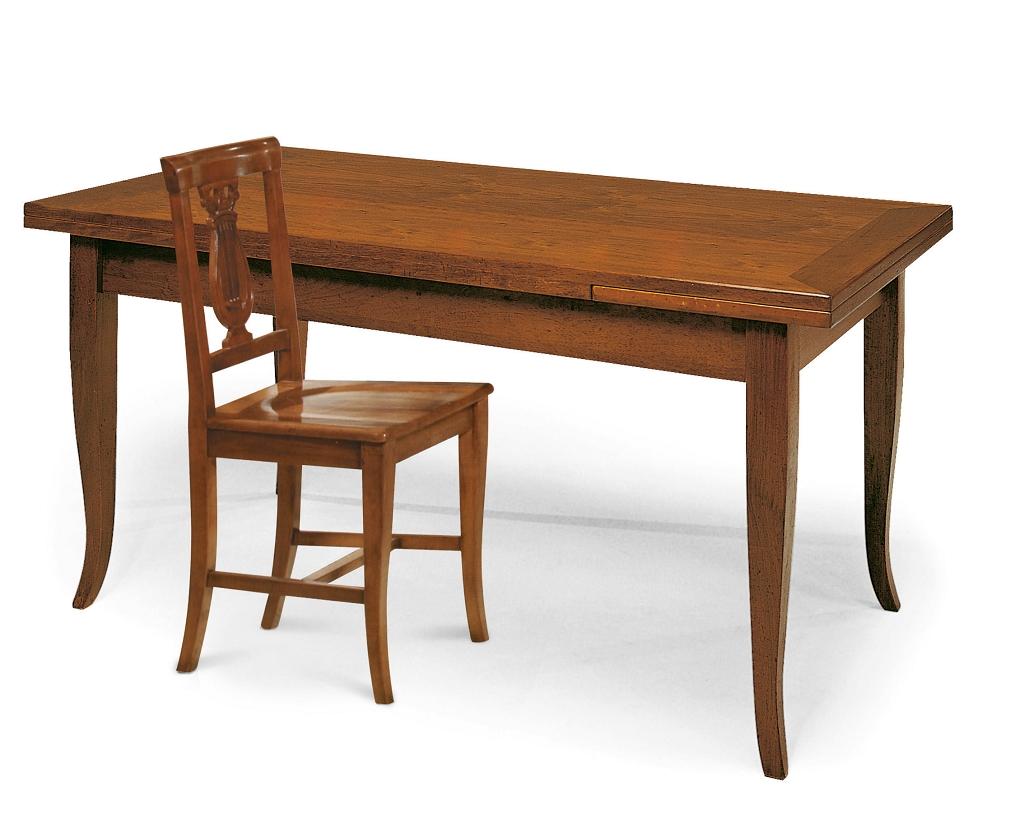 Tavolo allungabile 180cm x 85cm in legno massello tavoli - Tavoli da cucina in legno massello ...