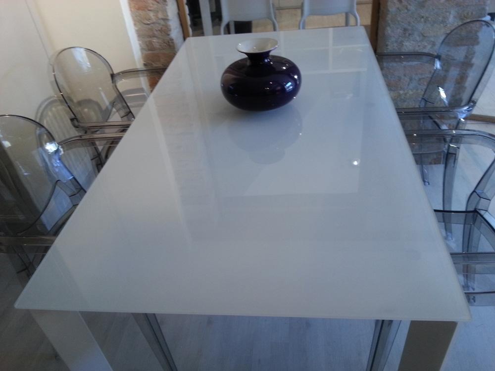 Tavolo design rettangolari allungabili vetro tavoli a for Tavolo design outlet