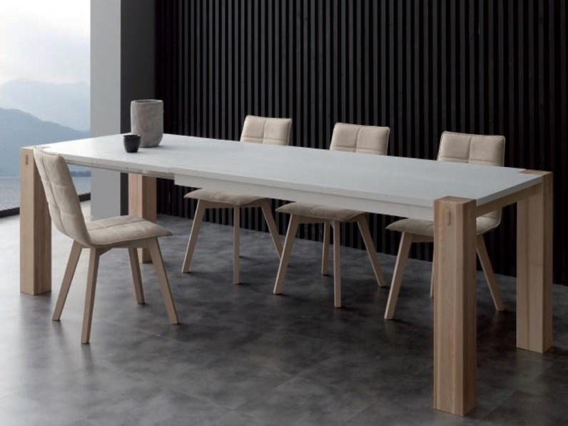 Tavolo allungabile 90 x 160 doppia allunga fino a 260 cm for Tavoli rettangolari moderni