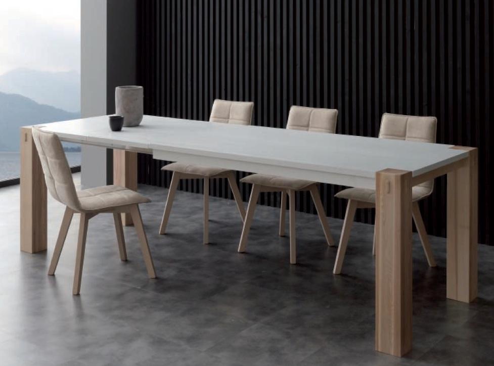 Tavolo allungabile 90 x 160 doppia allunga fino a 260 cm for Tavoli legno moderni allungabili