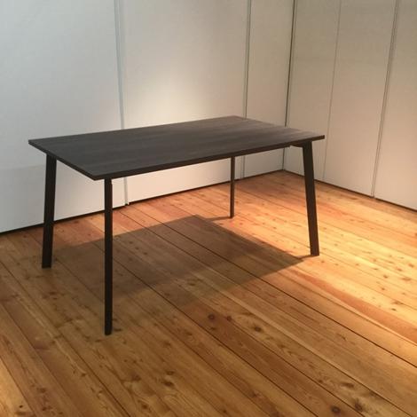 Tavolo allungabile calligaris con piano in laminato tinta legno weng moro scontato del 50 - Tavolo allungabile calligaris ...