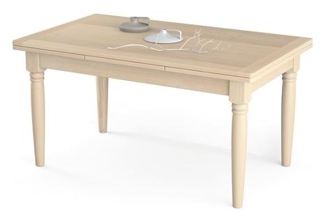 Tavolo allungabile con gambe tornite in legno massello for Tavolo consolle allungabile legno massello