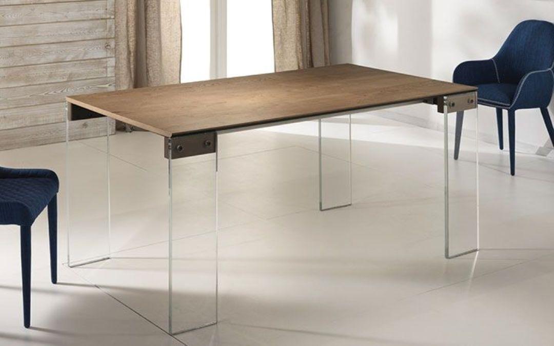 Tavolo allungabile con gambe vetro tavoli a prezzi scontati for Tavolo rettangolare allungabile