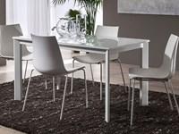 Tavolo vetro bianco allungabile | Romeoorsi