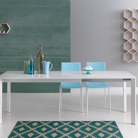 Tavolo allungabile con piano in vetro temperato nuovo a prezzo scontato tavoli a prezzi scontati - Piano in vetro per tavolo prezzi ...