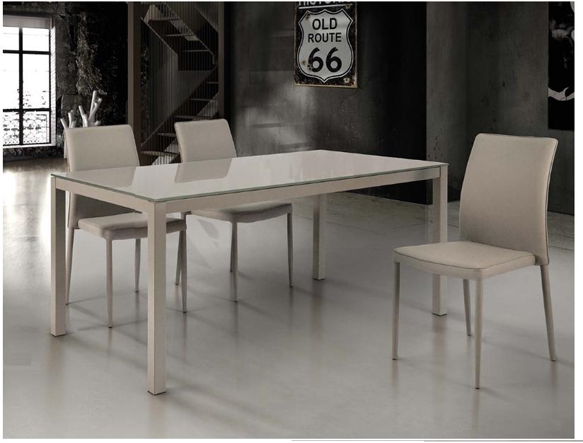 Tavolo allungabile con piano in vetro tempor832 tavoli a prezzi scontati - Tavolo con piano in vetro ...