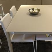 Tavolo industriale allungabile con piano vetro
