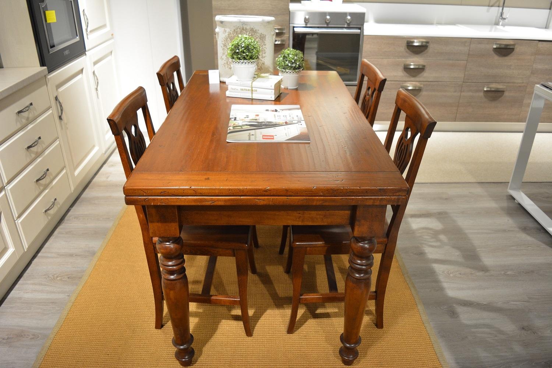 Tavolo allungabile in massello tavoli a prezzi scontati for Tavolo consolle allungabile legno massello